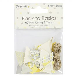 Mini bandierine e spago Back to Basics DCTOP062