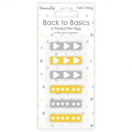 Mini mollette stampate Back to Basics DCWDN040