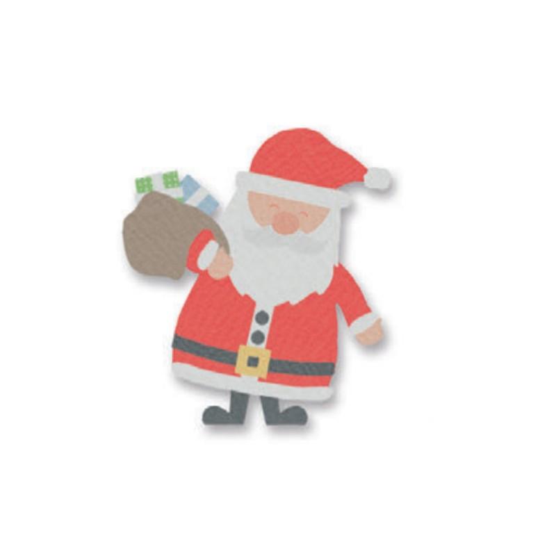 Fustella L sizzix 662329 Babbo natale con regali