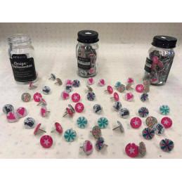 Puntine decorative schicchissimeconfezione da 60 pezzi vari colori