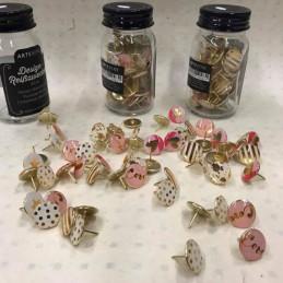 Puntine decorative schicchissime per donne sempre al top ..confezione da 60 pezzi in un prezioso barattolo di vetro. puntine su