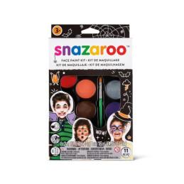 Kit per pitturare viso snazaroo 8 colori da 2ml e pennellino