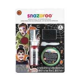 Kit snazaroo effetti speciali: il kit contiene cera per effetti speciali e sangue finto in gel