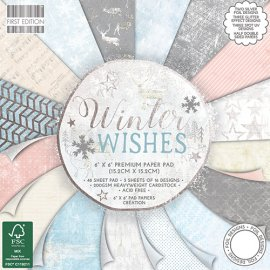 Blocco carta Firs edition 15x15 Winter wishes