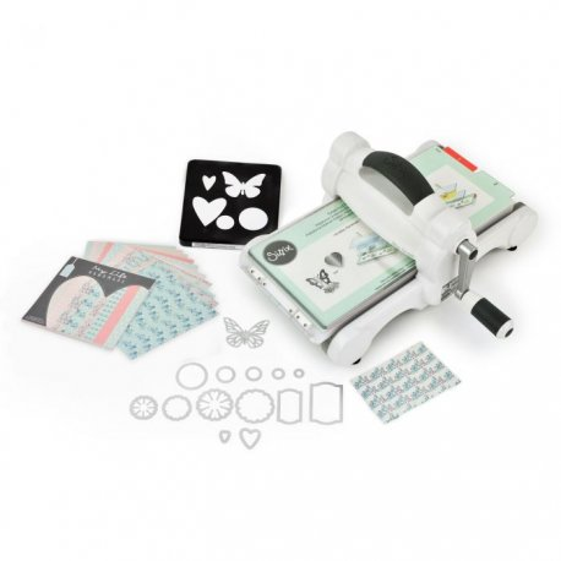 Sizzix Big Shot in Starter Kit con carta stoffa e fustelle 661545