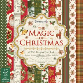 Carta blocco scrap The magic of Christmas 15x15