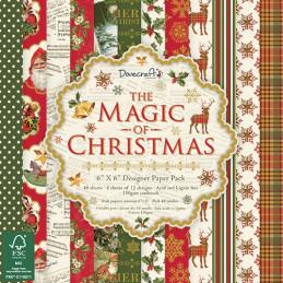 Carta blocco scrap The magic of Christmas 15x15