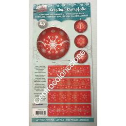 Pellicola termoretraibile rosso Natale 111
