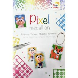 "Libretto Pixelhobby ""Pixel medallion"" per medaglioni portachiavi"