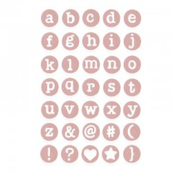 Sizzix Thinlits Die Set 35PK - Dainty Lowercase - 662520