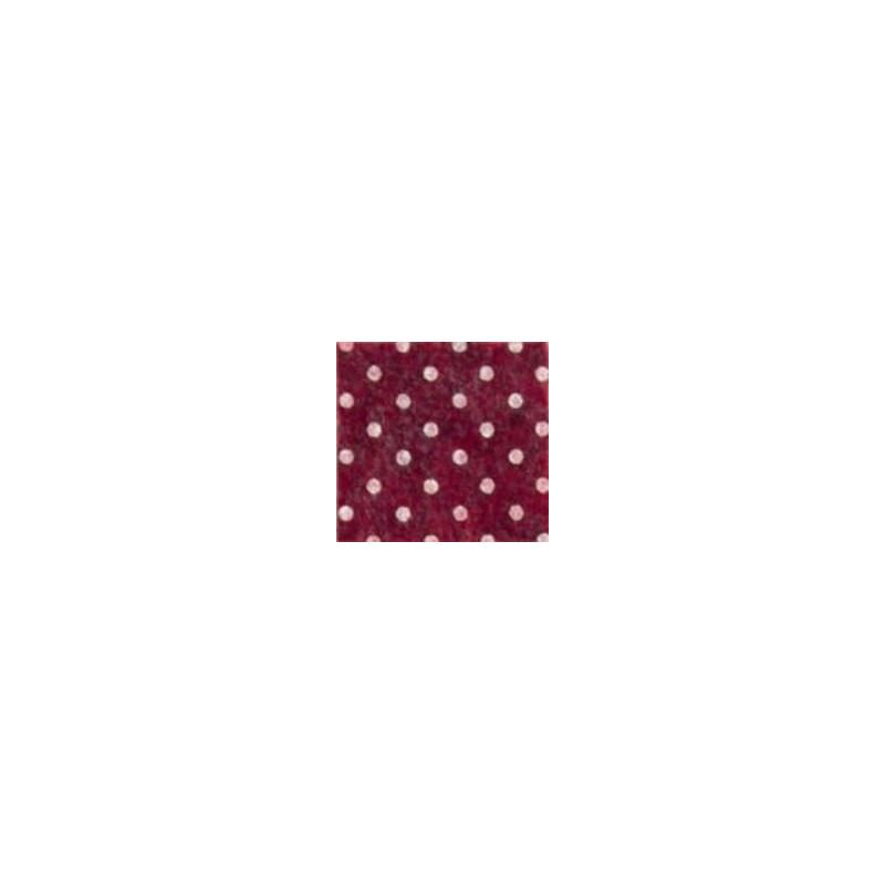Pannolenci a pois 30x40 cm - 250171 - 41 - Bordeaux (Pois Bianchi)