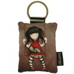 Gorjuss Puffy Rectangular Key Ring - Ruby 334GJ07