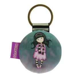 Gorjuss Round Key Ring - Little Song 332GJ07
