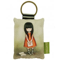 Gorjuss Puffy Rectangular Key Ring - I gave you my heart 334GJ09
