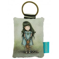 Gorjuss Puffy Rectangular Key Ring - Forget me not 334GJ08