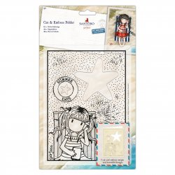 Fustella sottile Gorjuss Santoro - GOR 503012 - Gorjuss Summer Days Cut & Emboss Folder