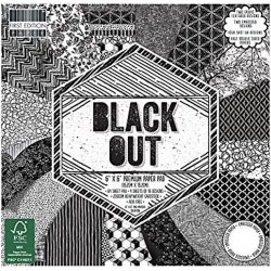 FEPAD142 - 15x15 Paper Pad Black Out -Trimcraft