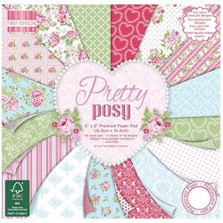 Carta blocco Scrap Pretty Posy FEPAD121 15x15 cm