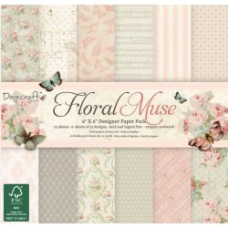 "Carta blocco Scrap - DCPAP024 Floral Muse 15x15 (6""x 6"")"