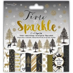 "Carta blocco Scrap - Tempo di brillare - DCPAP066x17 - Time to Sparkle- 15x15cm (6""x 6"")"