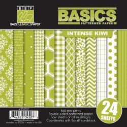 "Basic Patterned Paper Intense Kiwi 304527 15x15cm (6""x6"")"