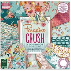 "Carta blocco Scrap - Paradise Crush - FEPAD132 - 20x20cm (8""x8"")"