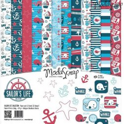 "Carta blocco Scrap - Sailor's Life SLFPP30 30x30cm (12""x 12"")"