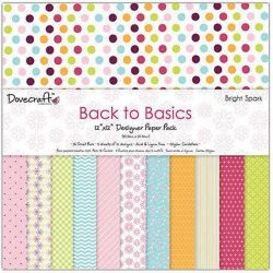 "Carte blocco scrap- Back to Basic - DCDP149 - 30,5x30,5 cm (12"" x 12"")"