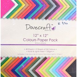 "Carte blocco scrap - Colours Paper Pack - DCDP59 - 30,5x30,5cm (12""X12"")"