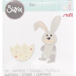 Fustella bigz sizzix coniglietto con ovetto 662997