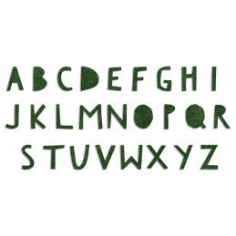 Fustella Sizzix Bigz Alphabet Die - Alfabeto Ritaglio Superiore - 662707