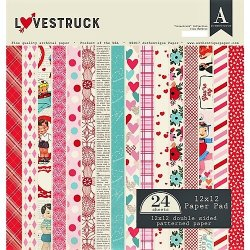 "Carta blocco Scrap -Amore - LOVESTRUCK - LVS012 - 30x30cm (12""x12"")"