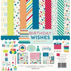"Carta Scrapbooking - Birtday Wishes - BDB84016- 30x30 (12""x 12"")."