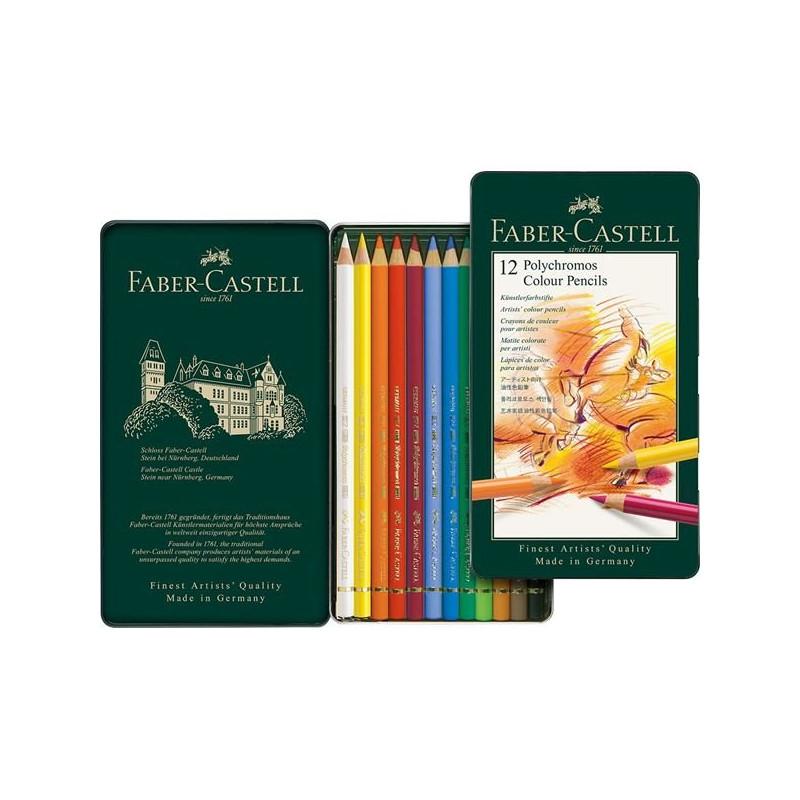 Confezione  da 12 colori a matita Polychromos Faber-Castel 110012