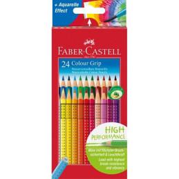 Confezione da 24 matite Colour Grip Faber-Castell 112424