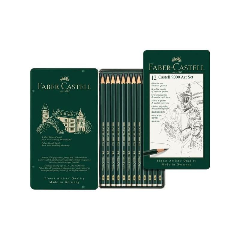 Confezione da 12 matite in grafite Castell 9000 Art set 119065