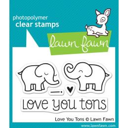 Timbro Lawn Fawn - Elefanti innamorati -  LF598