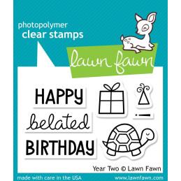 Timbro Lawn Fawn - Buon Compleanno 2 anni - LF510