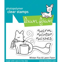 Timbro Lawn Fawn - Dolce volpe invernale - LF363