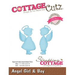CottageCutz Angel Girl & Boy CCE-319