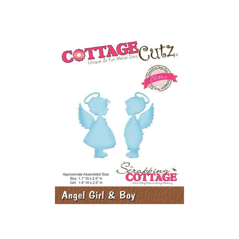 CottageCutz Angel Girl & Boy CCE-319