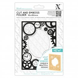 Embossing Folder XCUT Steampunk Cogs - XCU503812 - 110x150mm