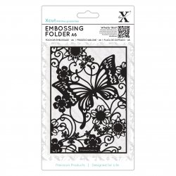 "Embossing Folder A6 XCUT Butterfly Meadow - XCU515188 - 6"" x 6"""