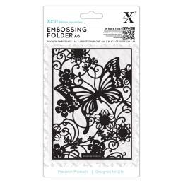 """Fustella sottile XCUT A6 Butterfly Meadow - XCU515128 - 6"""" x 6"""""""