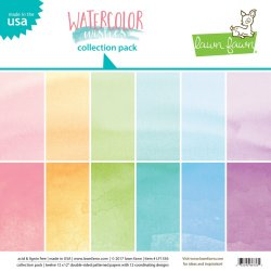 "Carta Scrapbooking - Colori Watercolor - LF1356- 30x30 (12""x 12"")."