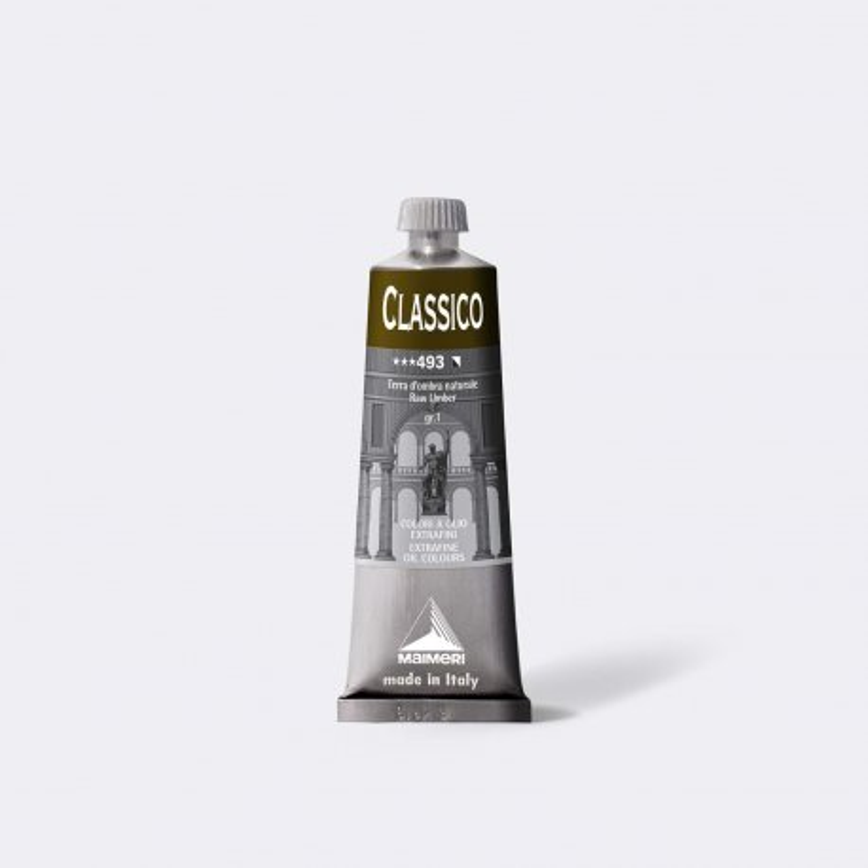 Colore ad olio Extrafine Classico MAIMERI 60 ml. - Terra d'ombra naturale - 493