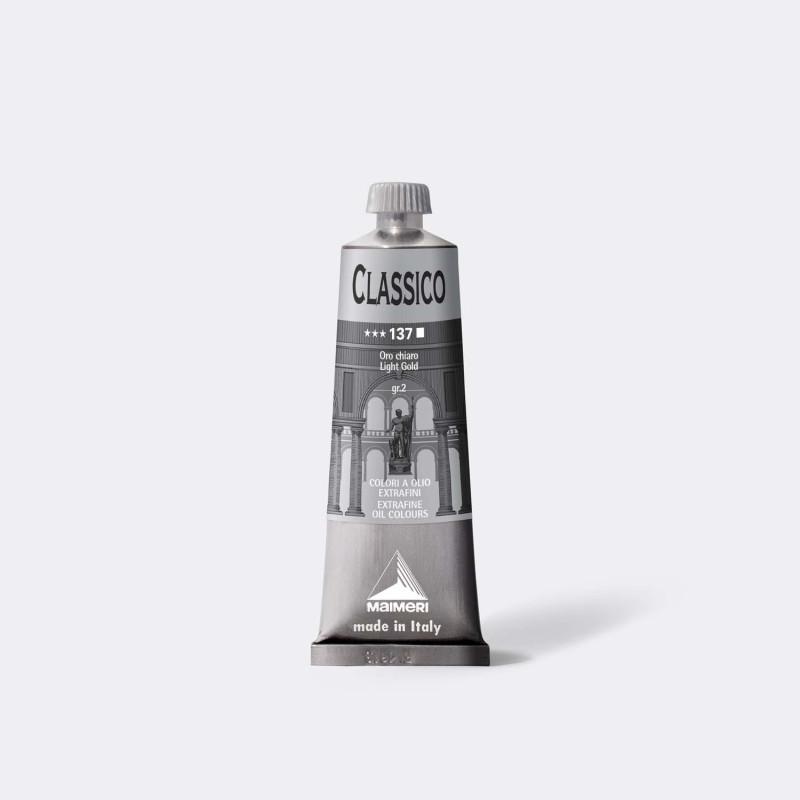 Colore ad olio Extrafine Classico MAIMERI 60 ml. - Oro chiaro - 137