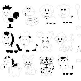 Sizzix Framelits Die Set 18PK Fustella con Stampi- Animali dello Zodiaco 662615