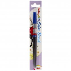 Pentel Color Brush Ricaricabile con punta a pennello- Acquarello Blu