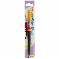 Pentel Color Brush Ricaricabile con punta a pennello- Acquarello Giallo Arancia
